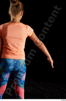 Esme  1 arm back view dressed flexing sports t shirt 0003.jpg